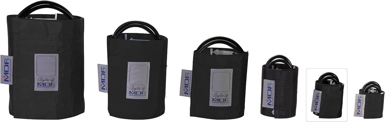 MDF® Infantil - Doble tubo Manguito sin látex para presión arterial - Negro (MDF2020410-11)