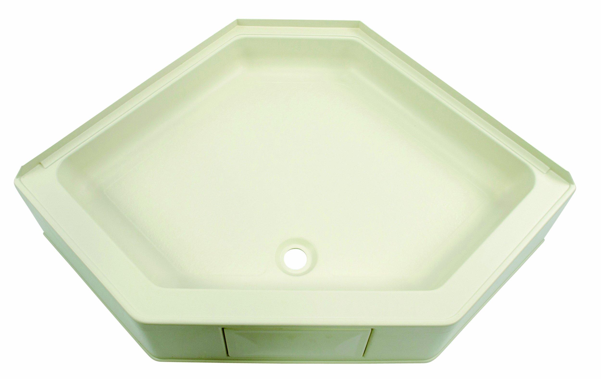 Lippert 301242 Better Bath 34'' x 34'' Neo Angle RV Shower Pan Center Drain Parchment