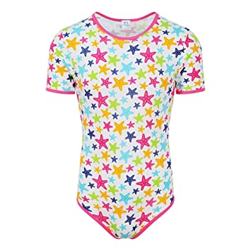 29f32ea3a459 NRU Starfish Bodysuit Onesie ABDL Adult Baby Diaper Lover - Large   Amazon.co.uk  Health   Personal Care