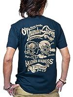 和柄 Tシャツ メンズ 半袖 プリント 5.6oz 【JUGEM】 Thunder Storm-風神雷神-モデル 全2カラー