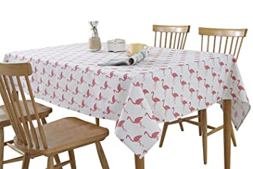 Amazoncom Yipoint Rectangle Tablecloth Yidian Flamingo Pattern