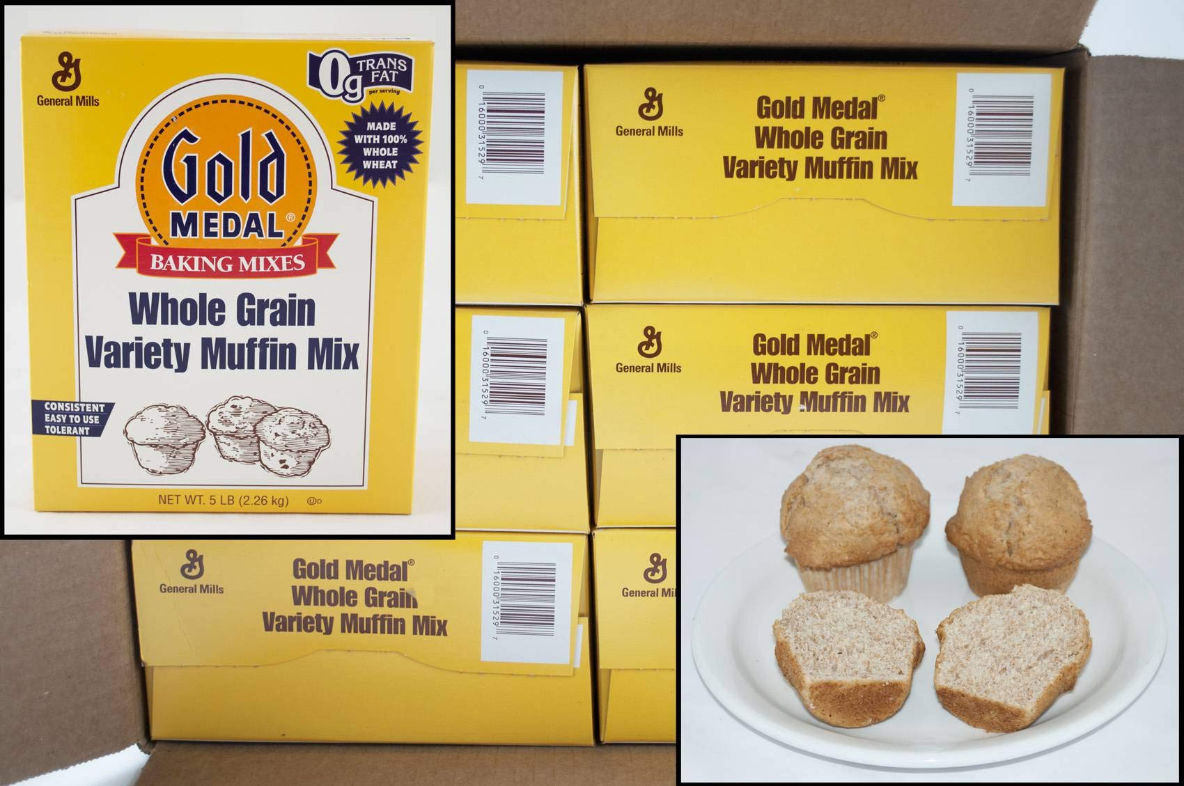 General Mills Gold Medal Whole Grain Variety Muffin Mix, 5 Pound -- 6 per case.