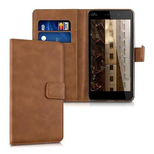 """10 opinioni per kwmobile Custodia portafoglio per Wiko Pulp FAB 4G (5.5"""")- Cover a libro in"""