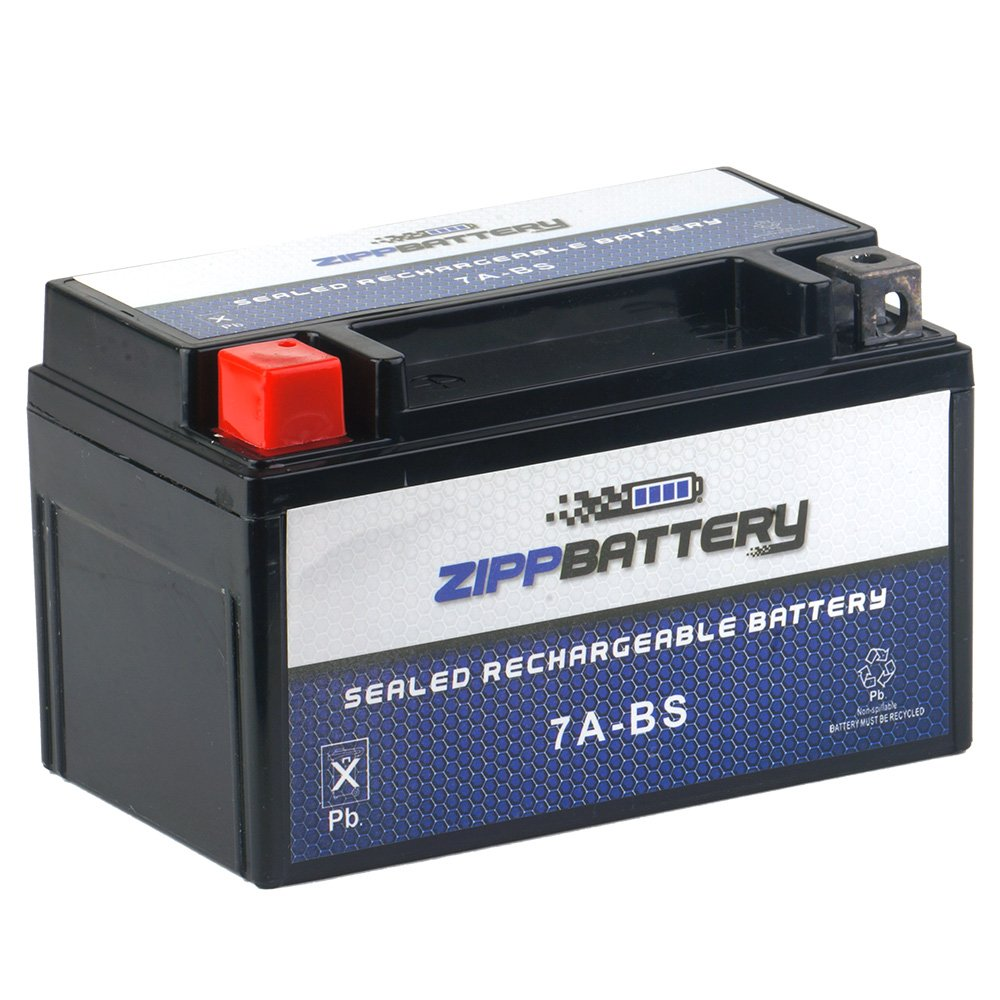 Chrome Battery 7A-BS Battery - High Performance Power Sports, AGM, Factory Sealed, Replacement for Motorcycles by Chrome Battery