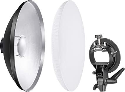 Neewer Photo Studio Reflector Beauty Dish with Diffuser and S Type Flash Bracket