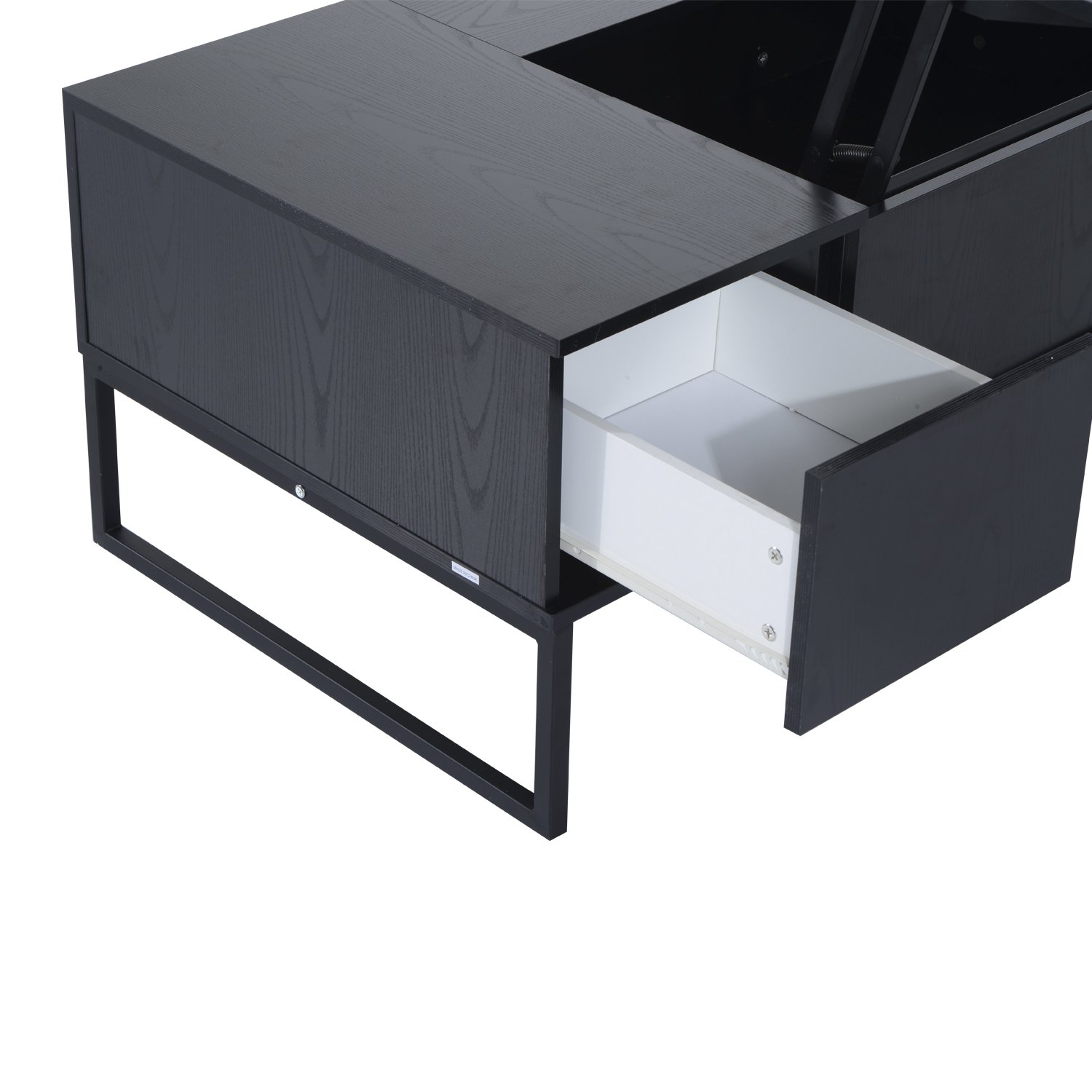 homcom foldable wood lift top coffee table convertible tea desk  - homcom foldable wood lift top coffee table convertible tea desk furniturewith  storage drawer tray black amazonca home  kitchen