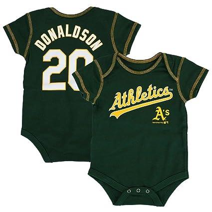 new concept b27aa 042ee Outerstuff Josh Donaldson MLB Oakland Athletics Jersey One Piece Creeper  Newborn (3M-18M)