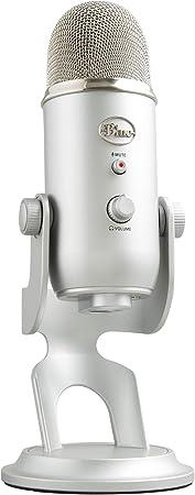 Todo para el streamer: Blue Microphones Yeti - Micrófono USB para grabación y transmisión en PC y Mac, transmisión de juegos, llamadas de Skype, transmisión de Youtube, Plug and Play, color Plata