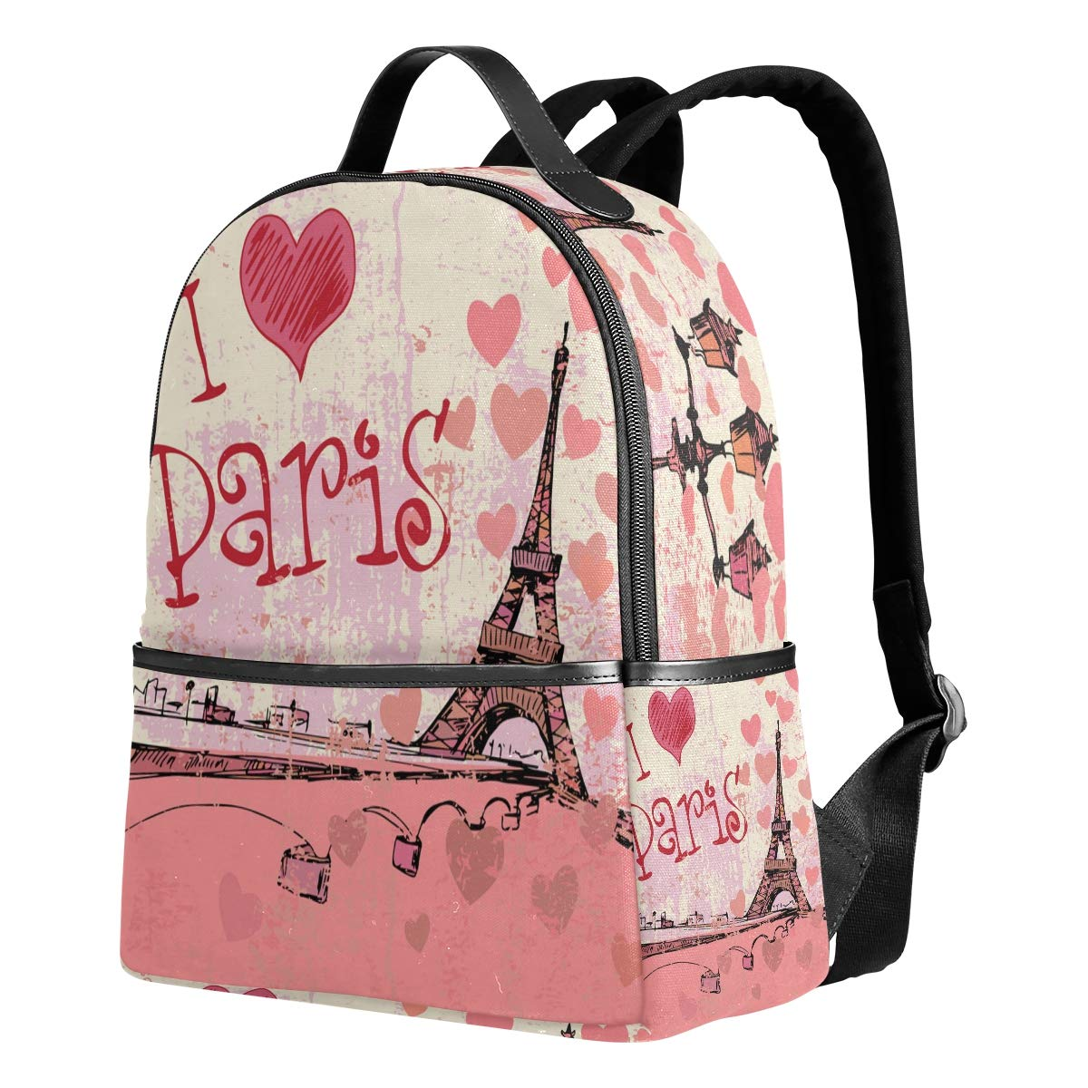 332b633696b3 Amazon.com: TropicalLife I Love Paris Eiffel Tower Backpacks School ...