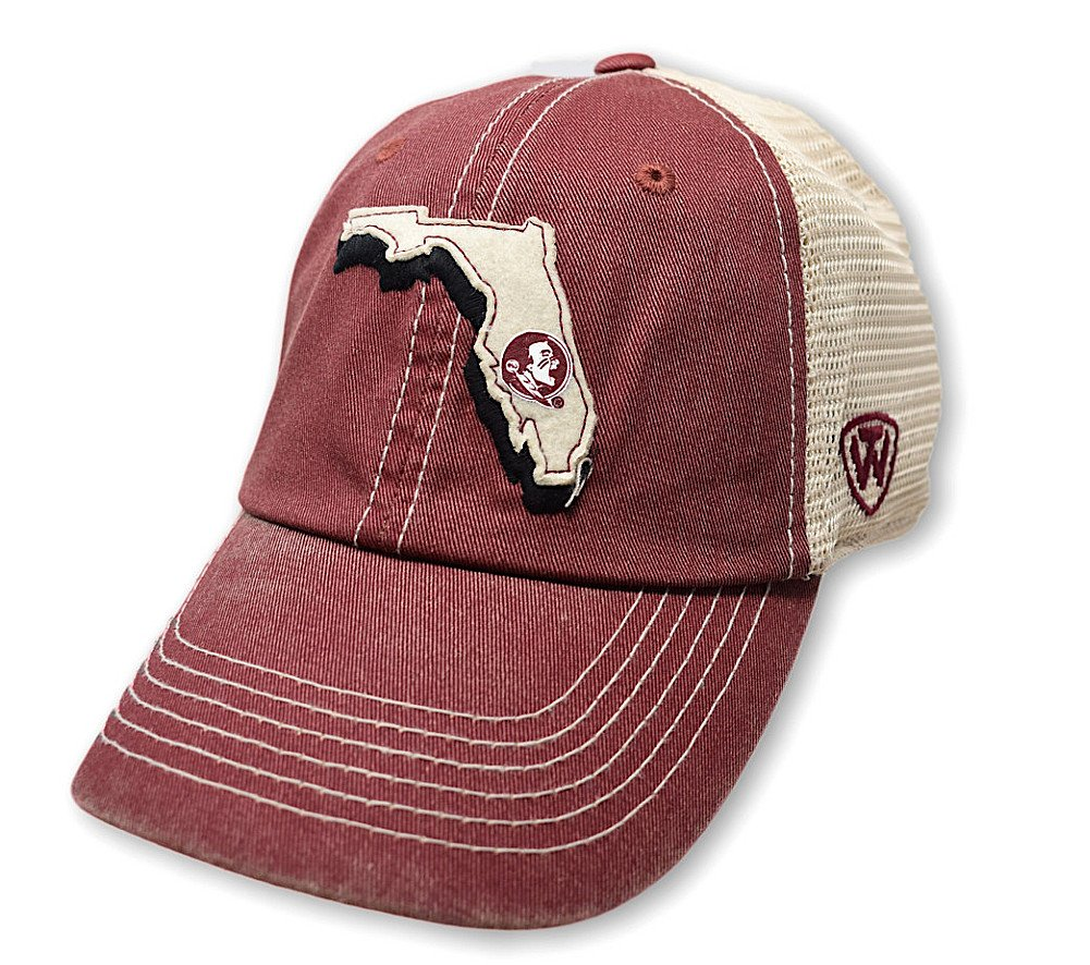 Top of the World Florida State Seminoles Men's Mesh-Back Hat Icon, Garnet, Adjustable