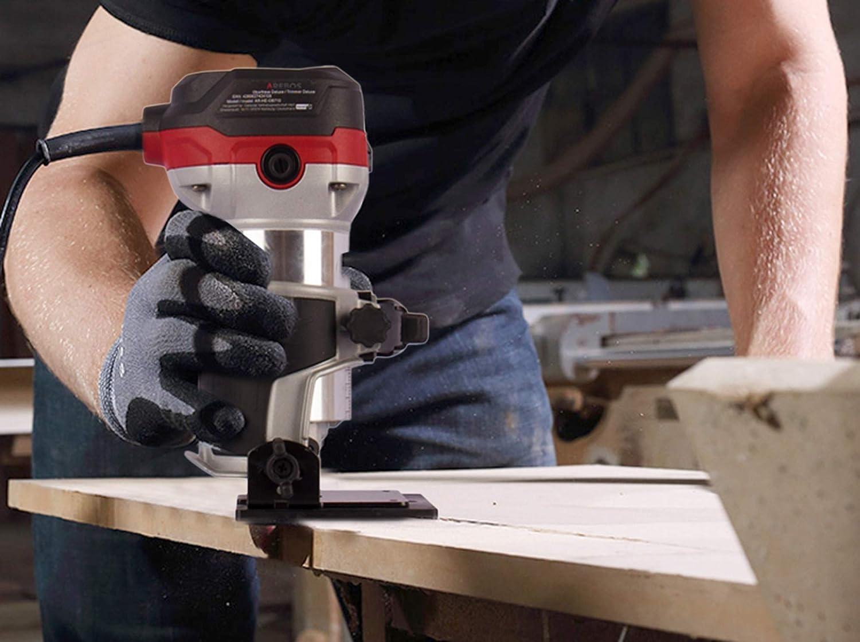 710W /ø 6 AREBOS D/éfonceuse de Luxe Plongeante et Affleureuse Machine /à Fraiser Centre de Plong/ée et Tailleur 8mm Sac /à outils