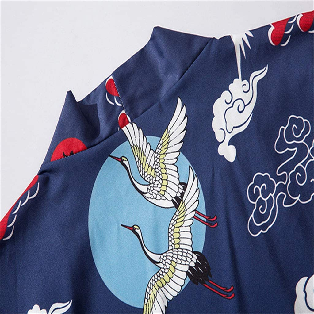Hniunew Baggy Cardigan Unisex Japan Fr/üHling-Sommer Kimono Tops Kurzarm Strickjacke Cloak Jacke Kimono Robe Halber /ÄRmel Mantel Jacke Brautjungfer Brautdusche Damen Herren Geschenk