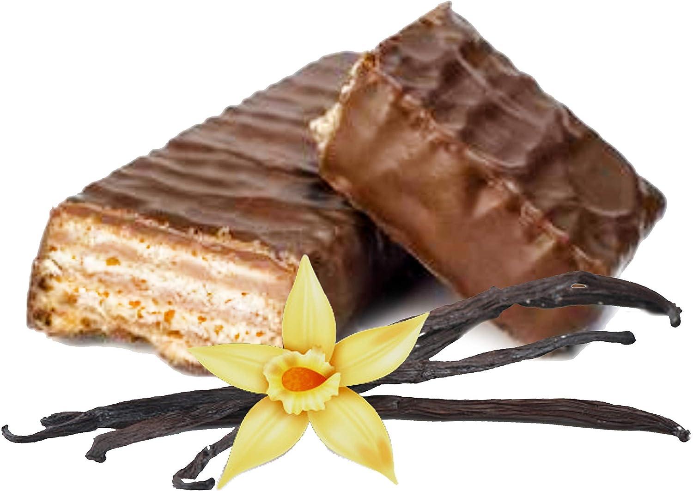 Wafers hiperproteicas de VAINILLA recubiertas de chocolate ...