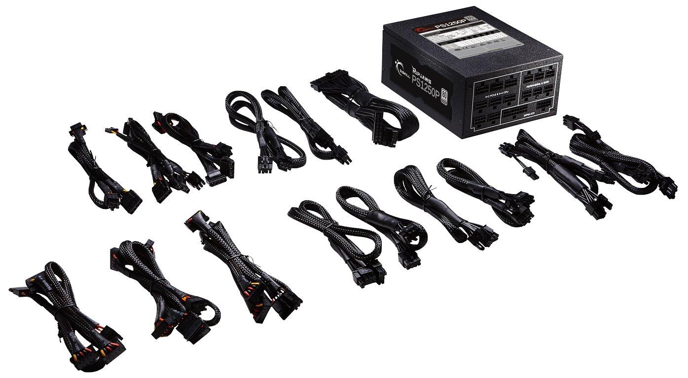 G.Skill GP-PL1250A-CWV1 Ripjaws PS1250P 1250W 80+ Platinum Full Modular Intel/AMD Ready Gaming PC ATX 12V Power Supply, Black