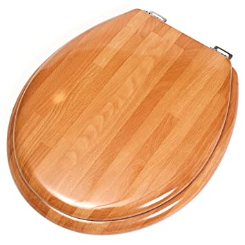 Imperial Wooden Toilet Seat Cover Compressed Wood 17 x 15 x