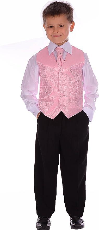 Los chicos niños palo rosa palo Swirl boda formal de Bautizo 4 Piezas de 3-6 meses a 8-9 años: Amazon.es: Ropa y accesorios