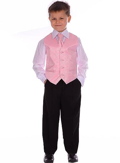 Los chicos niños palo rosa palo Swirl boda formal de Bautizo 4 Piezas de 3-6 meses a 8-9 años