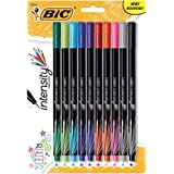 BIC Intensity Fineliner Marker Pen, Fine Point (0.4 mm), Assorted Colors, 10-Count