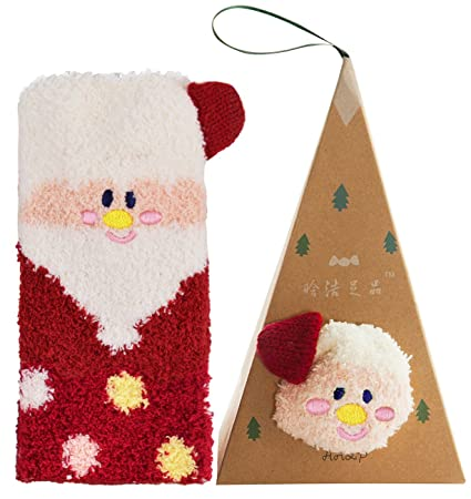 Zoylink Calcetines De Navidad para Mujer Calcetines Lindos De La Novedad Calcetines Elásticos Soft Crew Calcetines Borrosos: Amazon.es: Deportes y aire ...