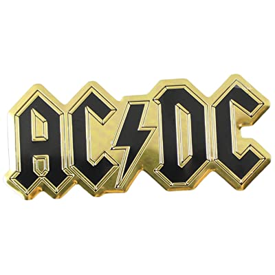 C&D Visionary ACDC Logo Metal Sticker, Gold, 9cm: Toys & Games