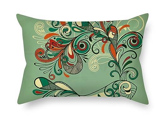 MaSoyy - Fundas de cojín (50 x 75 cm), diseño de Flores ...