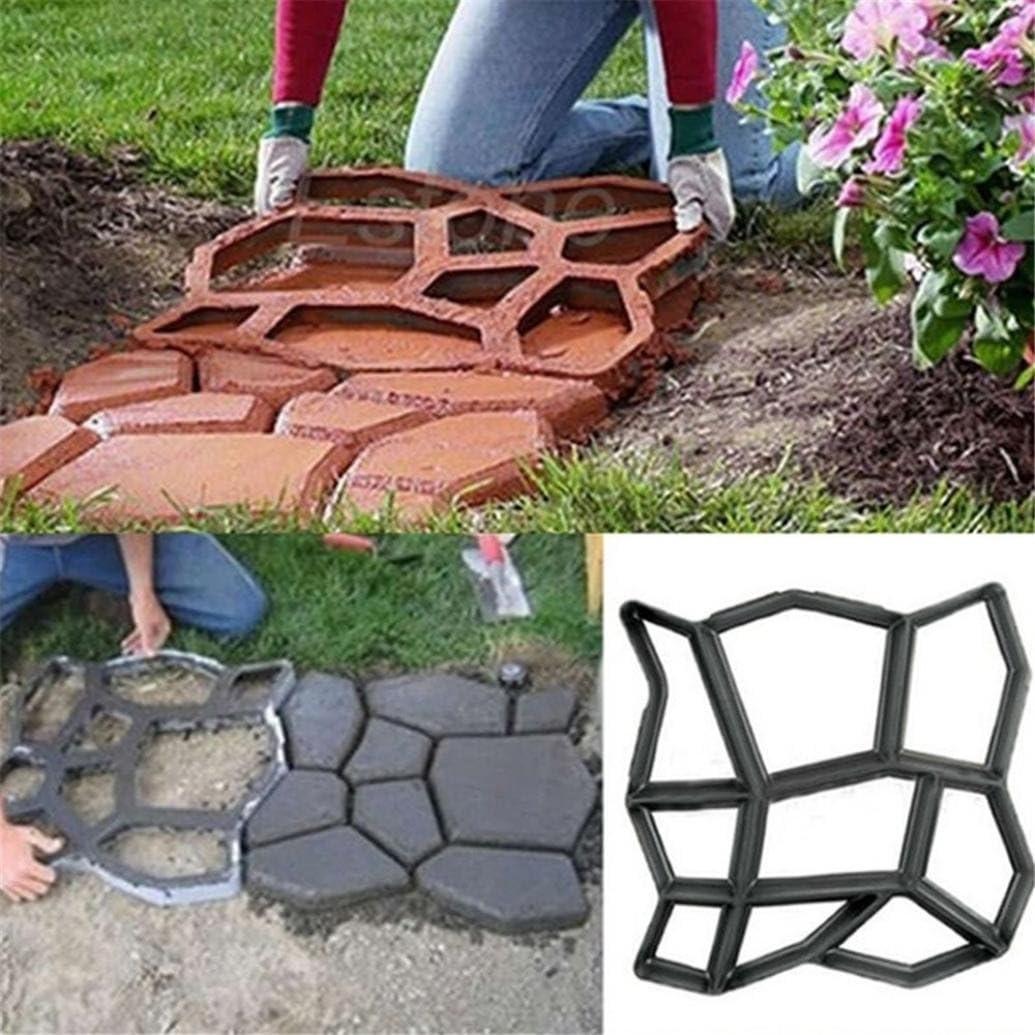 coerni Premium DIY reutilizable Path Maker Mold – hormigón cemento piedra diseño construcción juntas, 4 patrón para pavimento Patio Camino: Amazon.es: Hogar