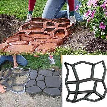 coerni Premium DIY reutilizable Path Maker Mold - hormigón cemento piedra diseño construcción juntas, 4 patrón para pavimento Patio Camino: Amazon.es: Hogar