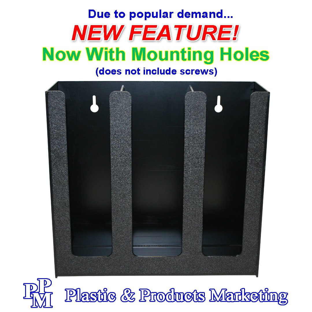 Coffee Cups or Lid Holder, 3 Columns 12''high. Non-Breakable, Now With Wall-Mount Holes. Proudly Made in the USA! and made by PPM. by Plastic & Products Marketing PPM (Image #7)