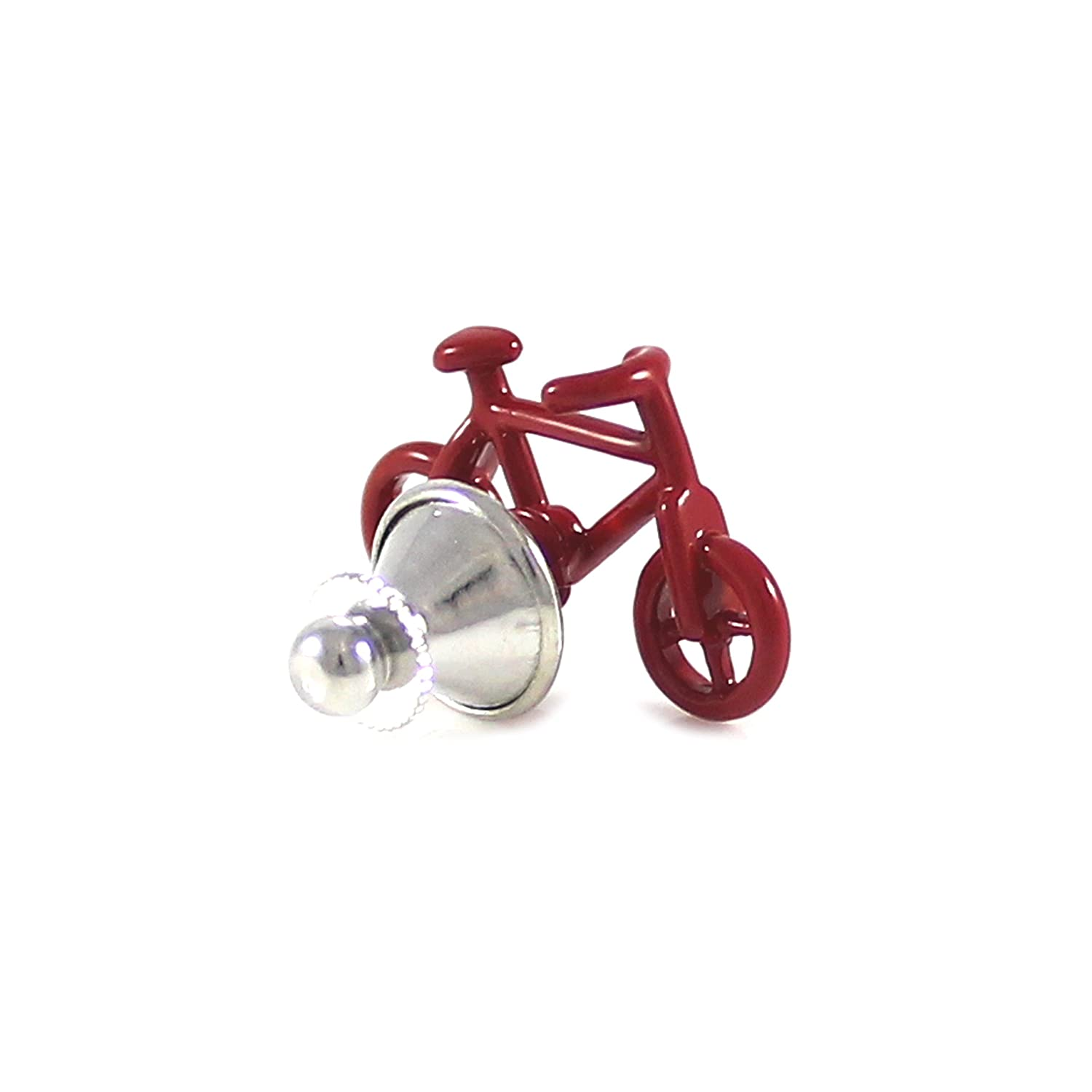 MENDEPOT Novelty Red Bike Lapel Pin Red Color Bicycle Suit Pin