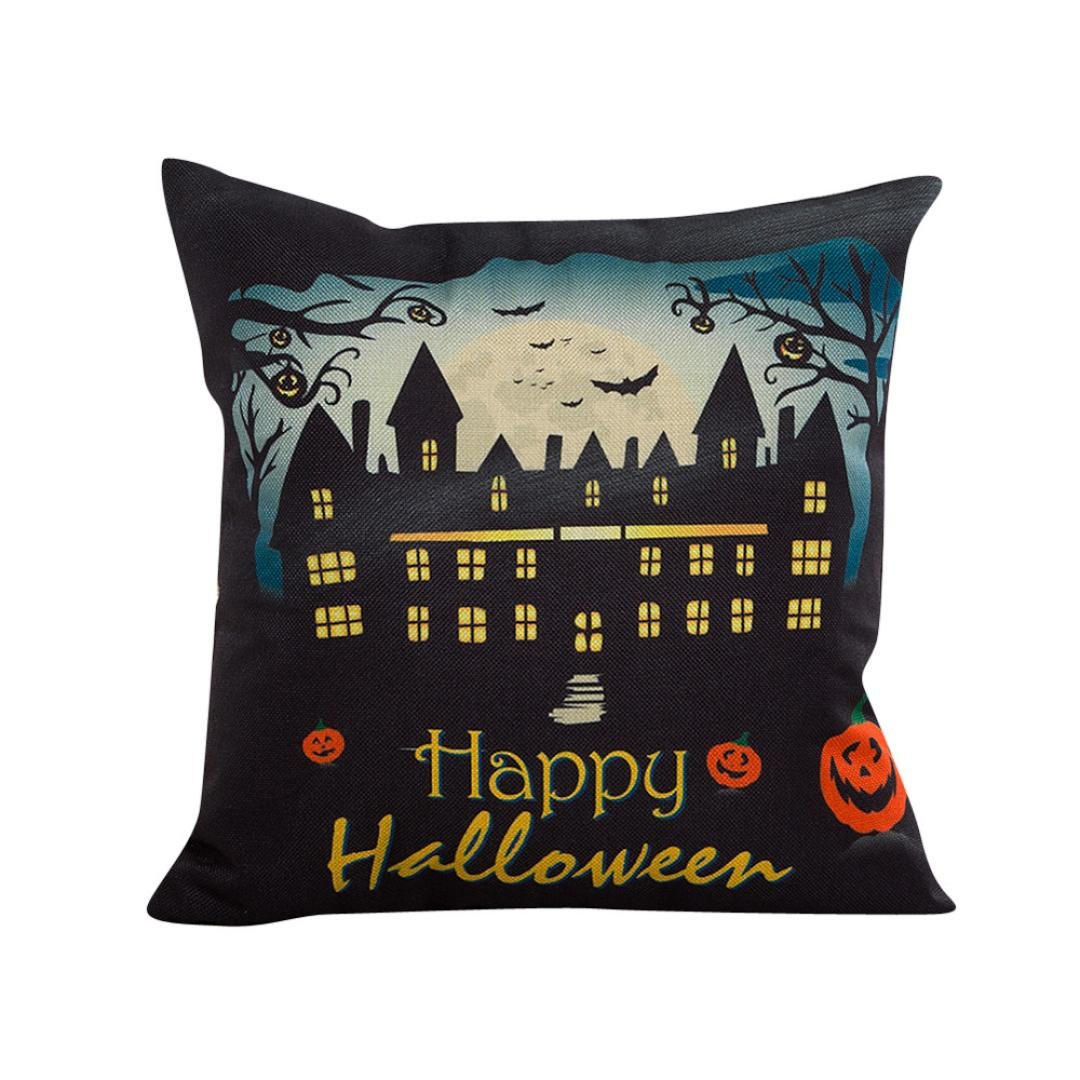 Tenworld Halloween Sofa Bed Home Decor Pillow Case Cushion Cover 18X18 (A) Tenworld-Pillow