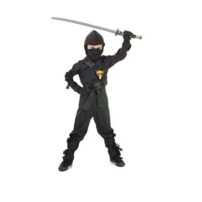 UNDERWRAPS Costumes Children's Black Ninja Costume, X-Large 14-16 Childrens Costume: Toys & Games