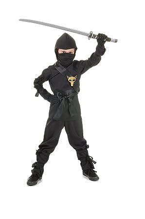 Underwraps Black Ninja Karate Costume L: Amazon.es: Juguetes ...