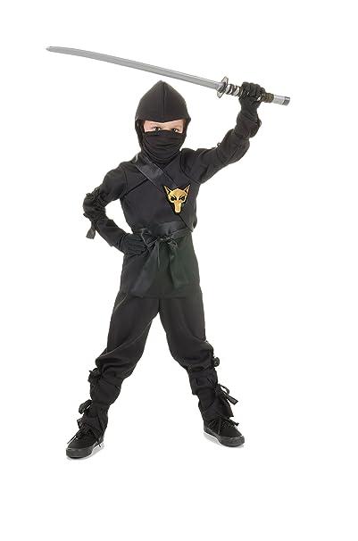 Amazon.com: Disfraz de ninja para niños, lobo negro ...