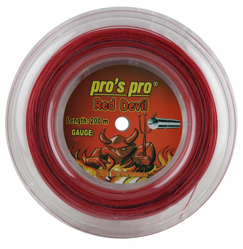 Red Tennis String 200m Pros Pro Red Devil