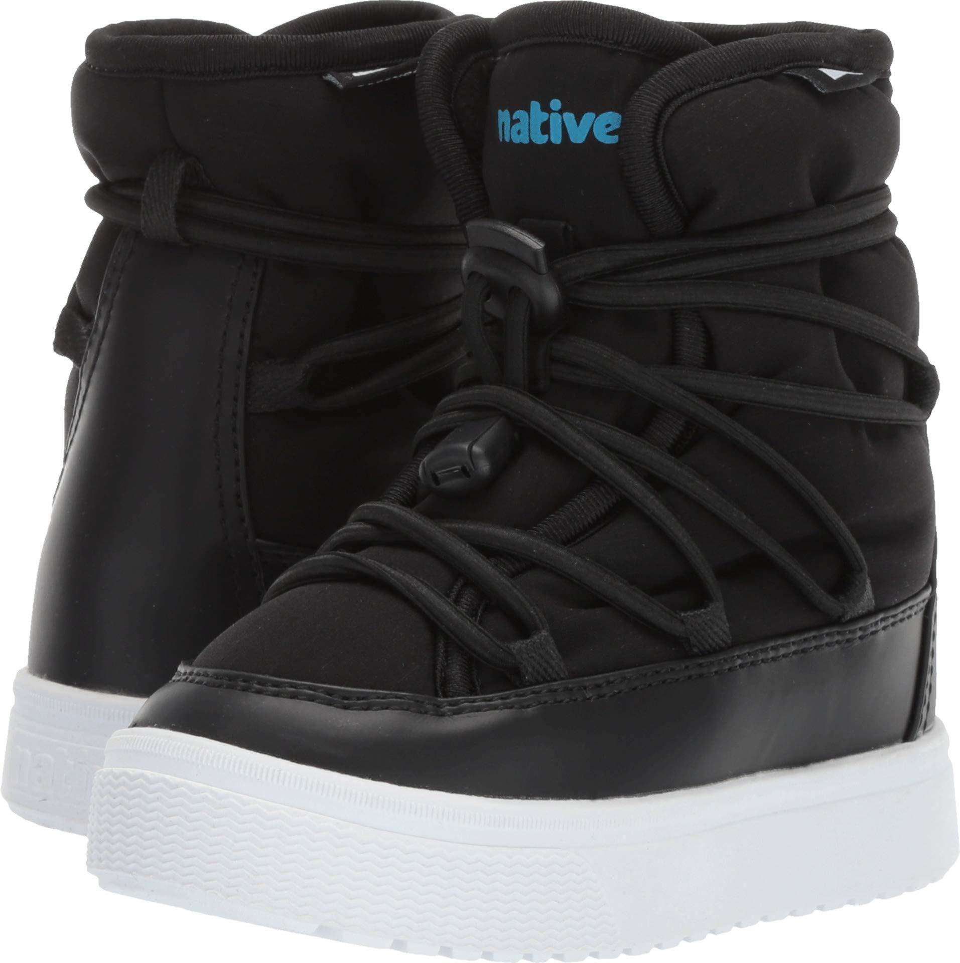 Native Kids Shoes Unisex Chamonix (Toddler/Little Kid) Jiffy Black/Shell White 8 M US Toddler