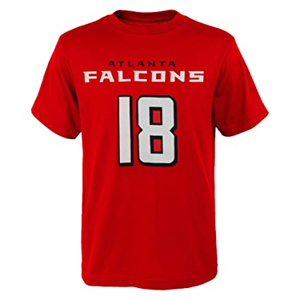 hot sale online ed447 18f6b Outerstuff Calvin Ridley Atlanta Falcons #18 Youth Mainliner Name & Number  T-Shirt