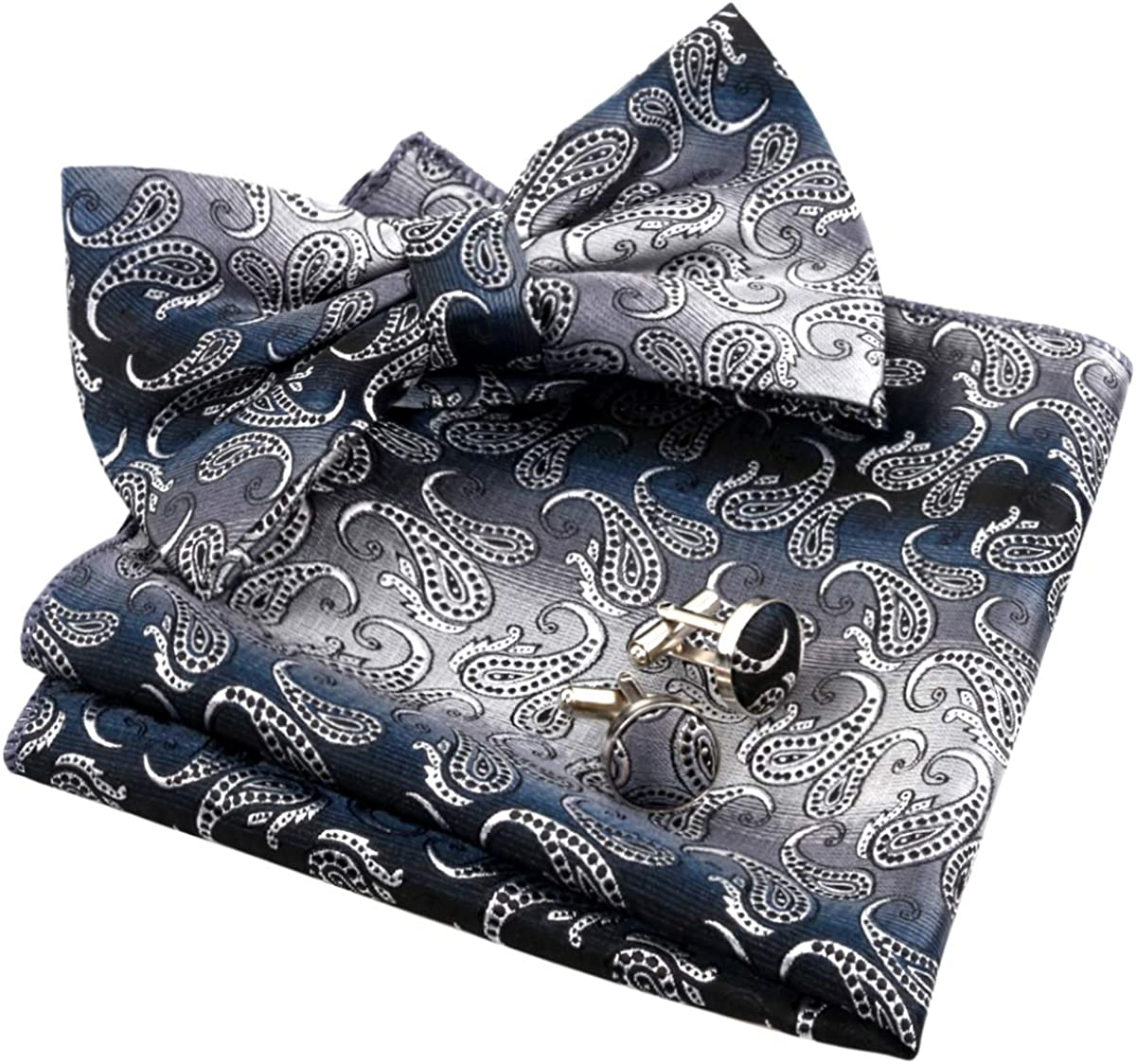 Hot Sale Men Cufflinks Blue Gradienter Cuff Links With Gift Box