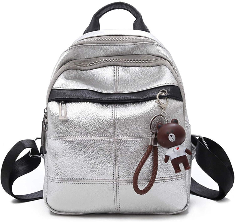 Fashion Women Bag Backpacks For Teenager Girls Leather Rucksack Multifunction Bagpack