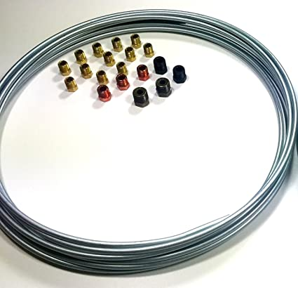 3 16 Brake Line >> Amazon Com 25 Ft 3 16 Brake Line Kit Steel Roll With Fittings
