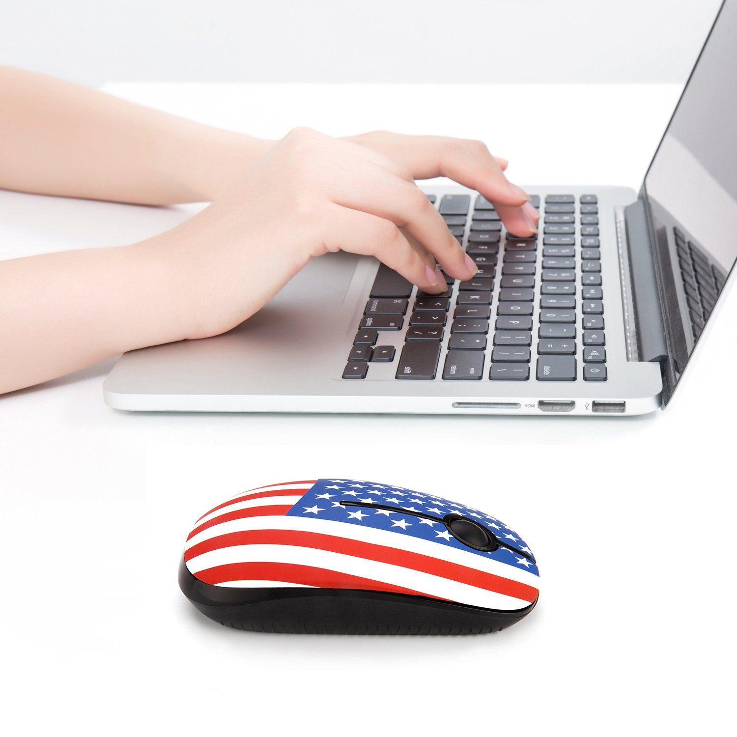 Jelly Comb 2.4G Slim Wireless Mouse with Nano Receiver MacBook Peacock Laptop Less Noise PC Computer Portable Mobile Optical Mice for Notebook