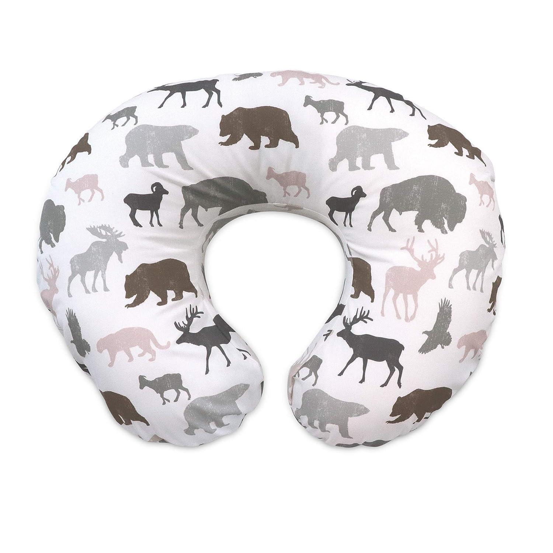 Boppy Original Nursing Pillow & Positioner, Neutral Wildlife, Cotton Blend Fabric with Allover Fashion, Brown