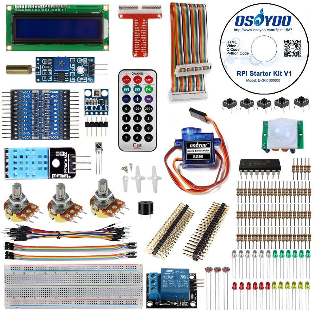 Osoyoo Raspberry Pi 3 Zero W Diy Basic Starter Learning Wiringpi Html Kit 2018 Updated For Beginners Home Improvement