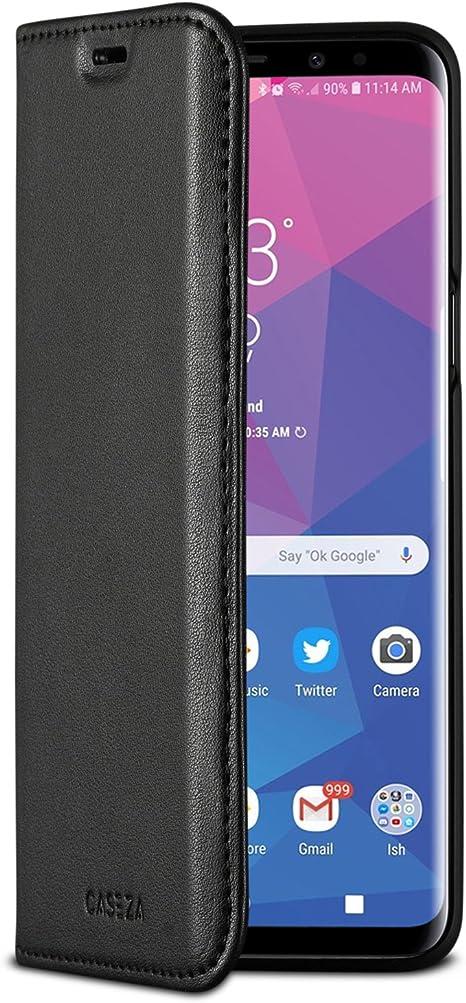 Caseza Galaxy S9 Flip Case Schwarz Oslo Ultra Schlanke Elektronik