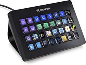 Elgato Stream Deck XL - Advanced Stream Control with 32 Customizable LCD Keys, for Windows 10 and macOS 10.13 or Later