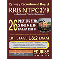 Railway Recruitment Board RRB NTPC 2019 Non Technical Popular Categories 26 Previous Year Solved Papers CBT Stage 1 & 2 Exam