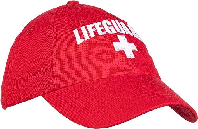 3fc1b719e2ce57 Lifeguard Hat   Professional Guard Red Baseball Cap Men Women Costume  Uniform - Red