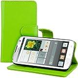kwmobile Elegante funda de cuero sintético para el Huawei Ascend G610 con cierre magnético y función de soporte en verde