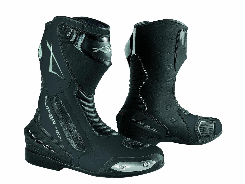 A-Pro Stivali Stivaletto Moto Sportivo Pelle Pista Professionale Traspirante Nero 45