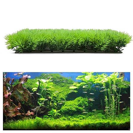 Planta artificial - SODIAL(R)Planta de hierba verde acuatica agua falsa artificial Cesped Paisaje de acuario: Amazon.es: Productos para mascotas
