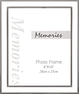 YOUNG POONG Silver Metal Picture Frames for Home Decoration and Gallery Display,Wall Mount or Tabletop(8x10,Silver) …